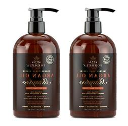 2 X Moroccan Argan Oil SHAMPOO Infused with Biotin for Hair