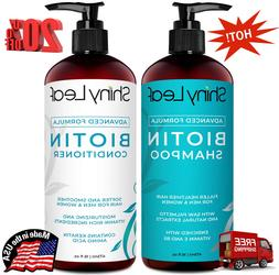 Biotin Hair Growth Shampoo and Conditioner Set Anti Hair Los