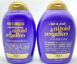 OGX Extra Volume Biotin + Collagen Shampoo + Conditioner, 13