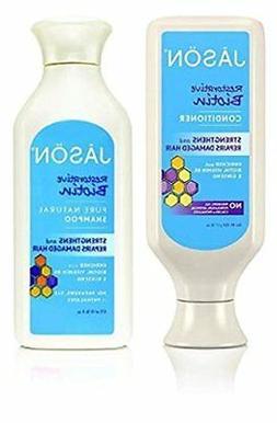 JASON All Natural Organic Biotin Shampoo and Conditioner For