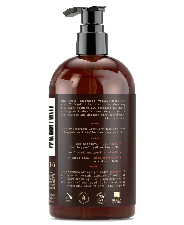 2 Moroccan Argan Oil SHAMPOO Infused with Biotin Hair