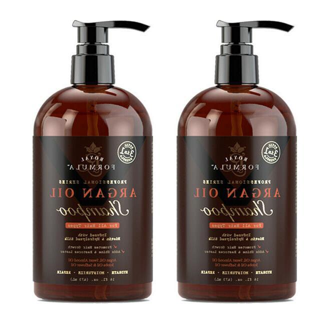 2 x moroccan argan oil shampoo infused