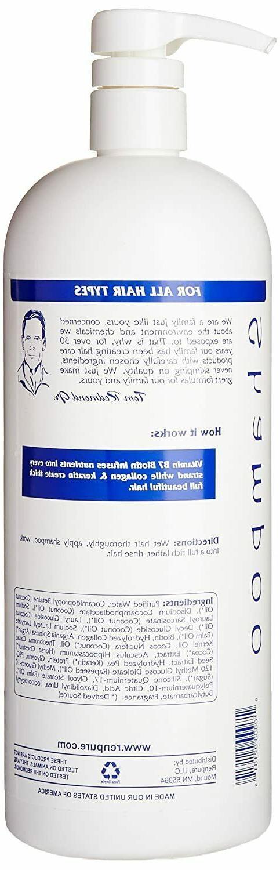 Renpure Biotin Collagen Shampoo Hair Sulfate oz NEW