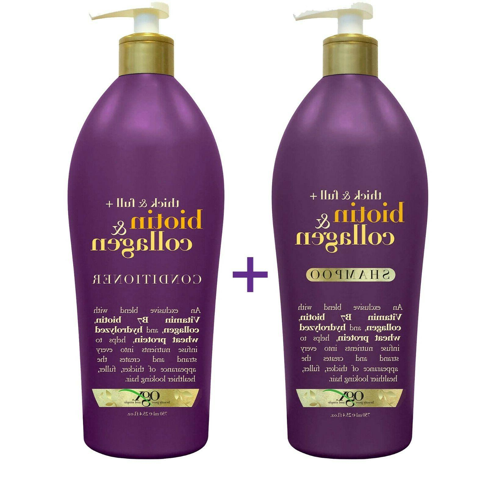 biotin and collagen shampoo or conditioner thick