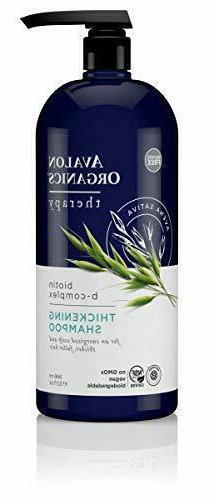 Avalon Organics Biotin B-Complex Thickening Shampoo, 32 oz.