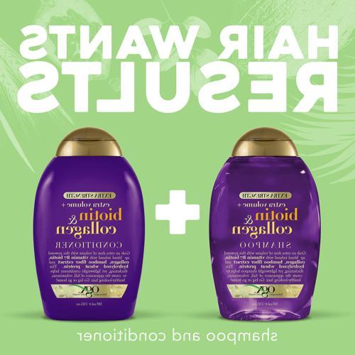 OGX Thick Full + Biotin Extra Strength Shampoo with B7 &