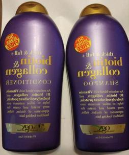 OGX Thick & Full Biotin & Collagen Shampoo& Conditioner 19.5